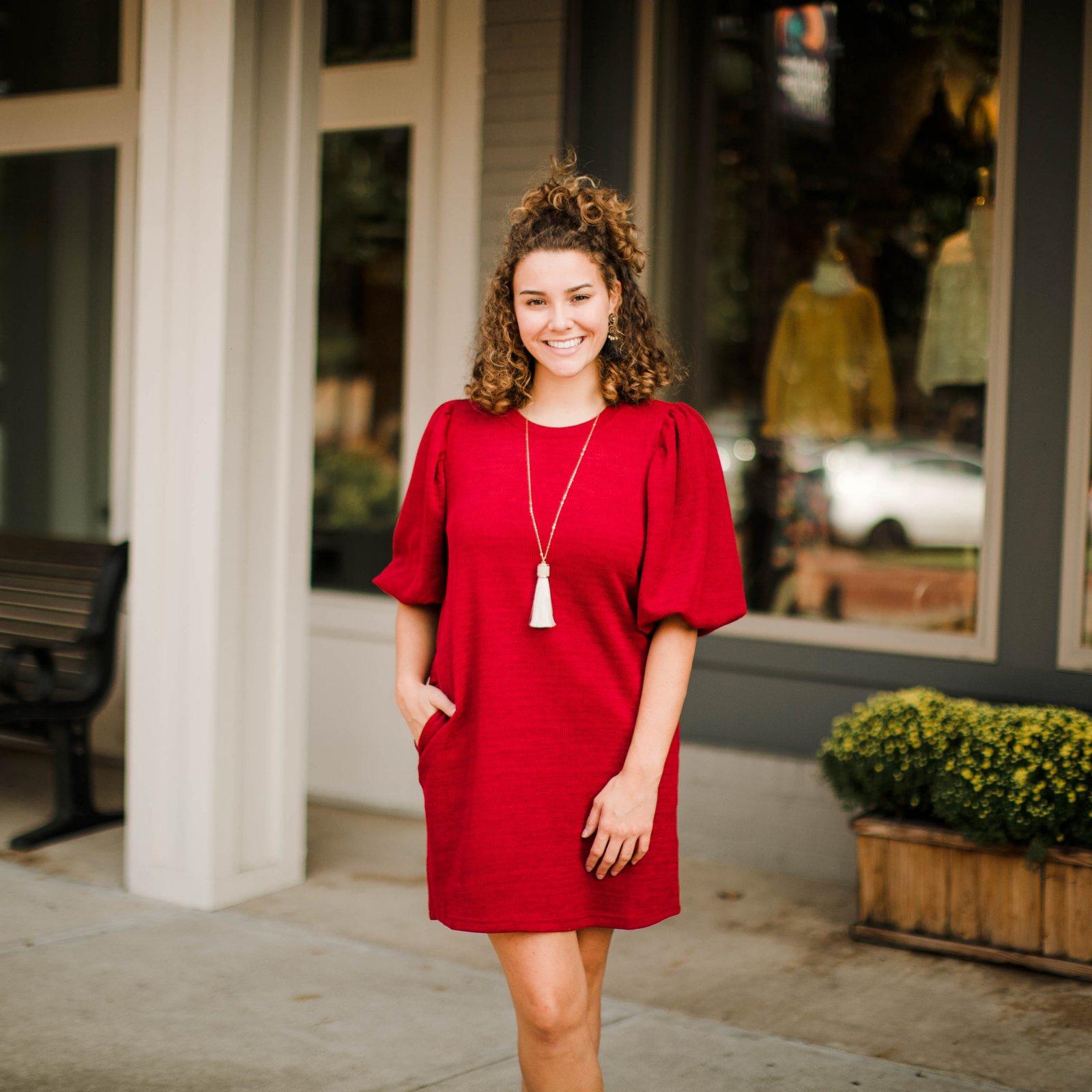 Curvy Wine Dress