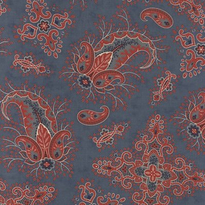 Collections for a Cause:  Comfort Blue Paisley Yardage