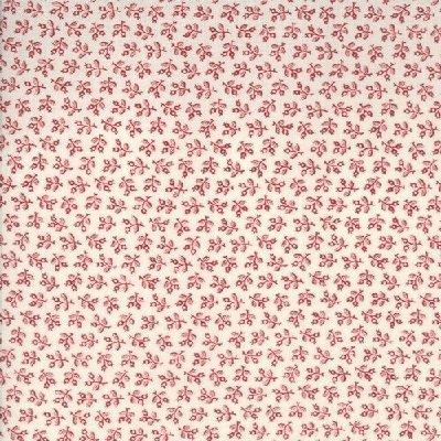 Floral Gatherings Shirt Tallow Crimson Yardage