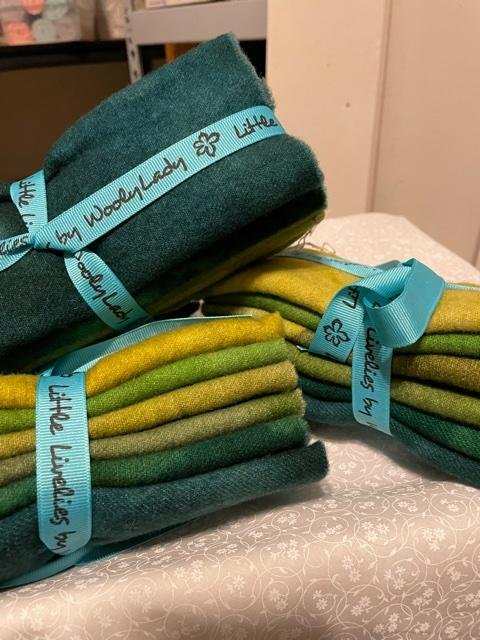Wool Bundle, Greens Galore by Wooly Lady.