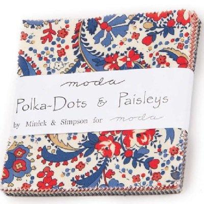 Polka Dots Paisleys Charm Pack