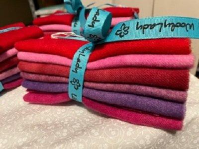 Wool Bundle, Pink, Red, Purple by Wooly Lady.