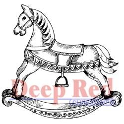 Deep Red Rocking Horse stamp - Discontinued