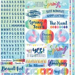 Reminisce Springtime Spring 12x12 Stickers - Discontinued