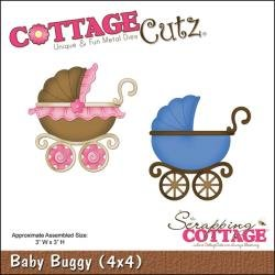 Cottage Cutz Baby Buggy die