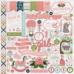 Carta Bella Rock-A-Bye Baby Girl Stickers