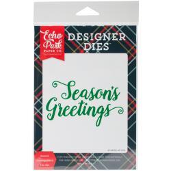 Season's Greetings Word Die