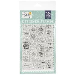 Echo Park Hello Baby New Arrival stamp - Discontinued