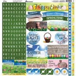 Reminisce Springtime Easter 12x12 Stickers - Discontinued