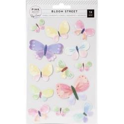 Paige Evans Bloom Street - Dimensional Stickers -Butterflies