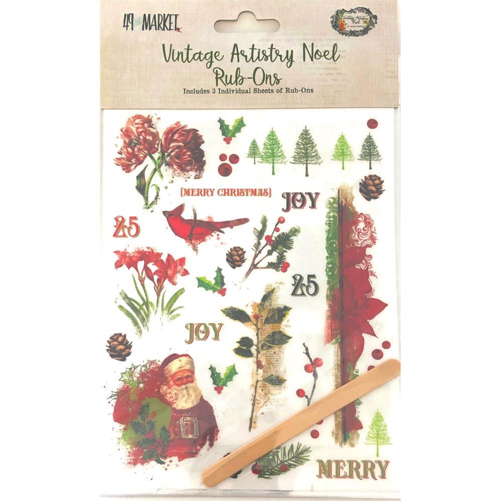 49&M Vintage Artistry - Noel - Rub-Ons