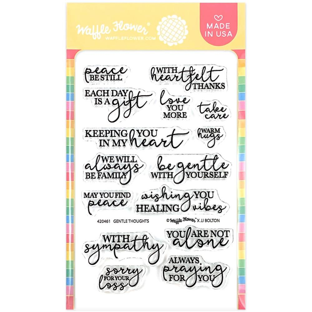 Waffle Flower Crafts Clear Stamps 4X6-Tender Thoughts