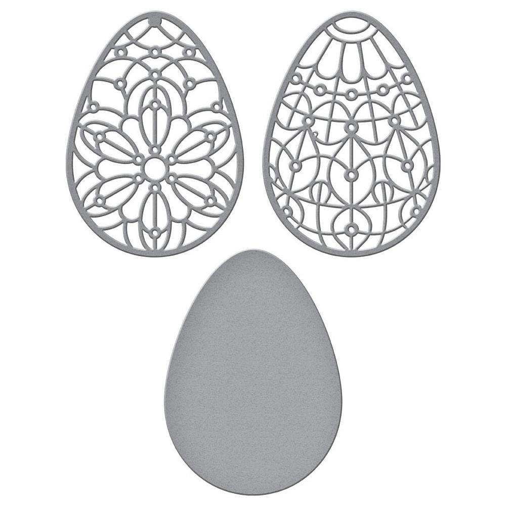 Spellbinders Etched Dies-Forever Spring Eggs