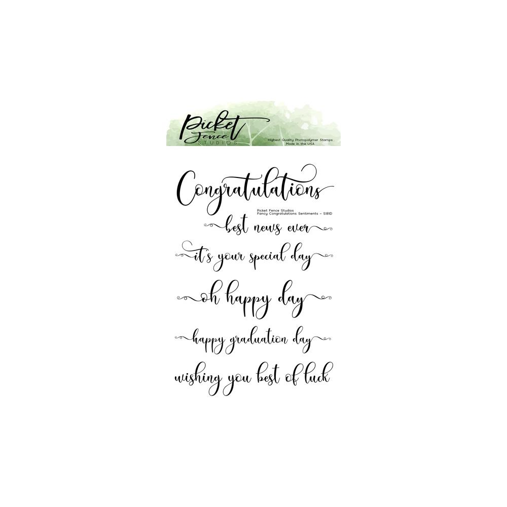 Picket Fence 4X6 Stamp - Fancy Congratulations Sentiments