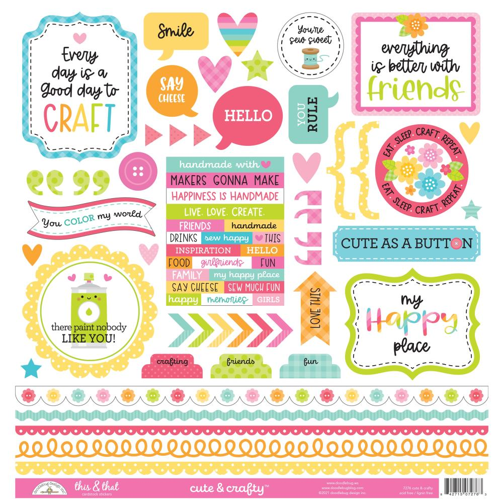 Doodlebug Cute & Crafty - This & That Stickers