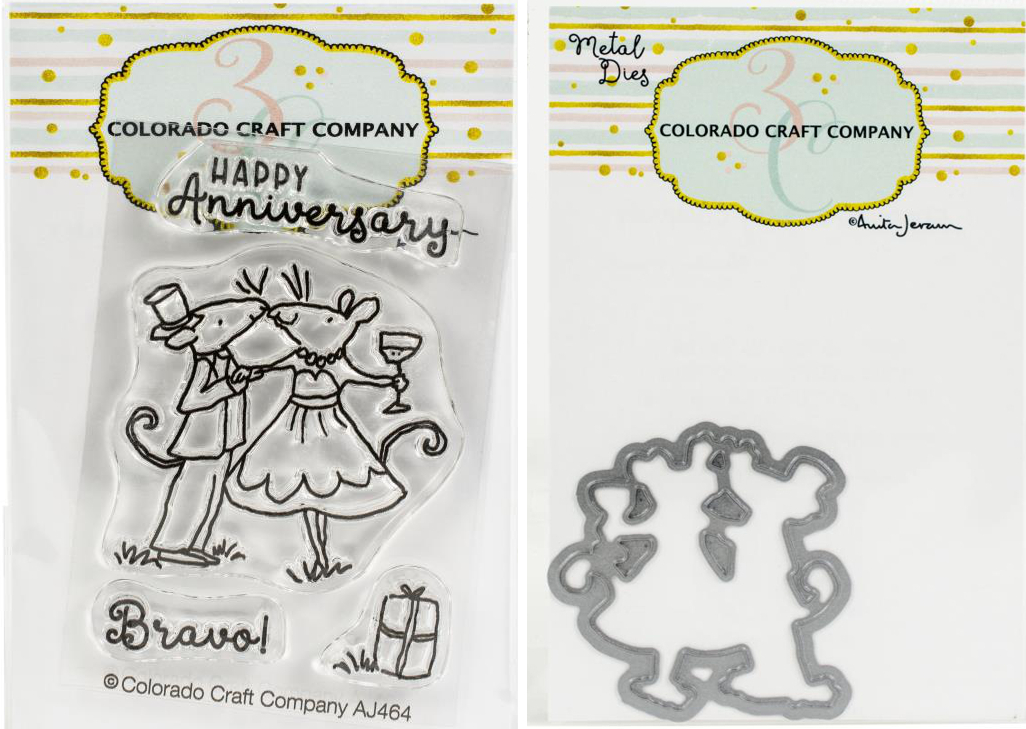 COL - Happy Anniversary - Mini Stamp Die Set