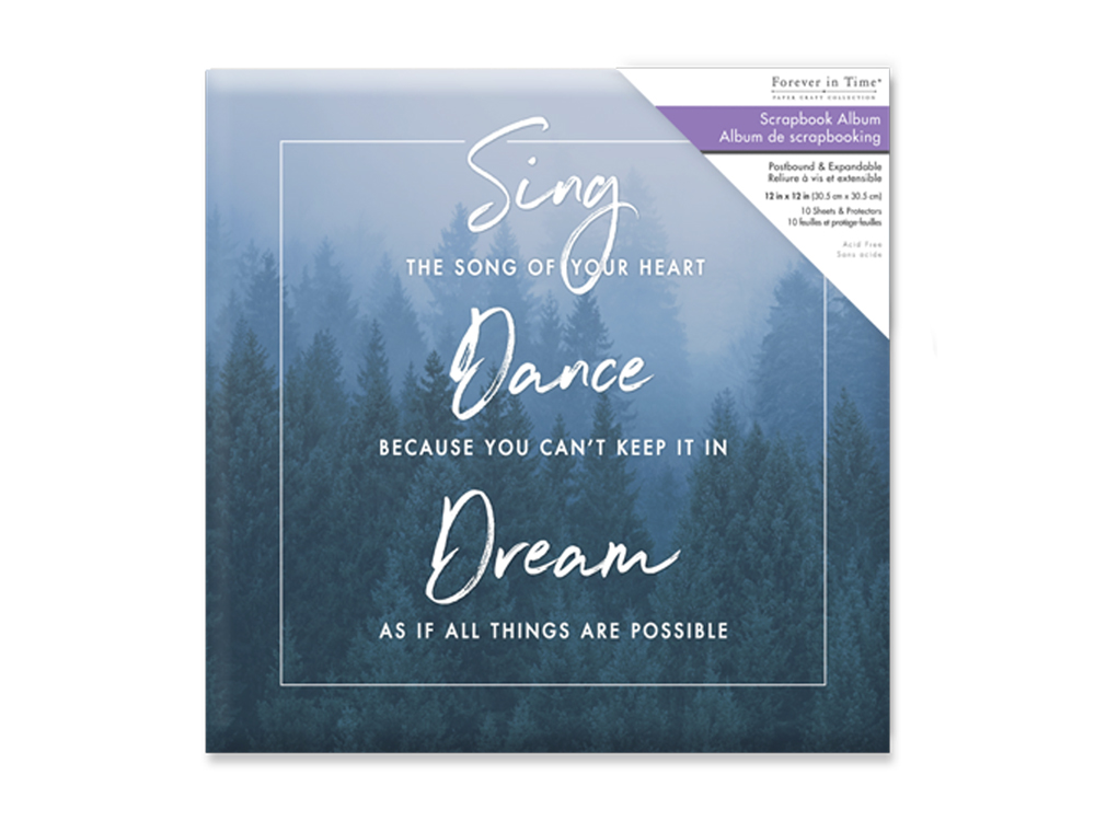 Forever In Time - Postbound Album 12x12 - Sing, Dance, Dream