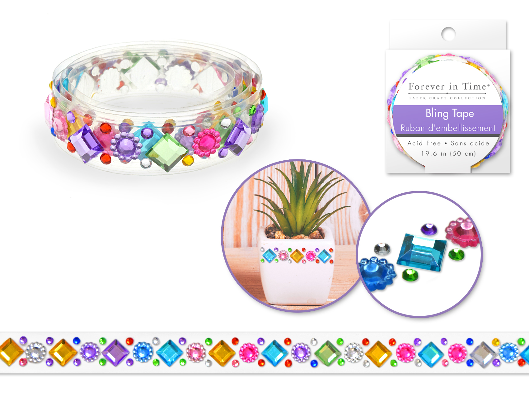Forever in Time Bling Tape - Floral