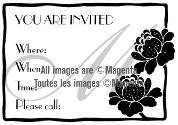 You Are Invited Cling
