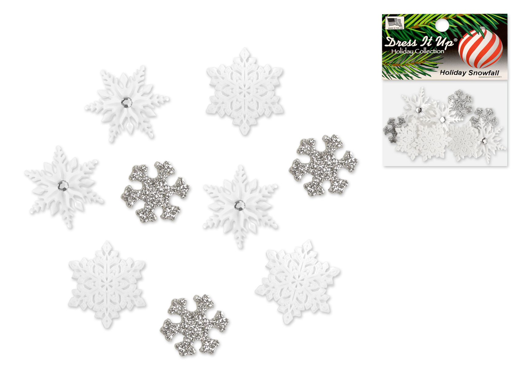 Dress It Up - Holiday Snowfall buttons