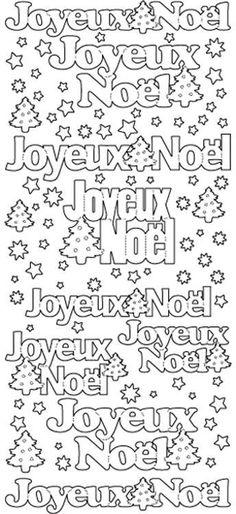 Peel Off Stickers - Joyeux Noel - Black