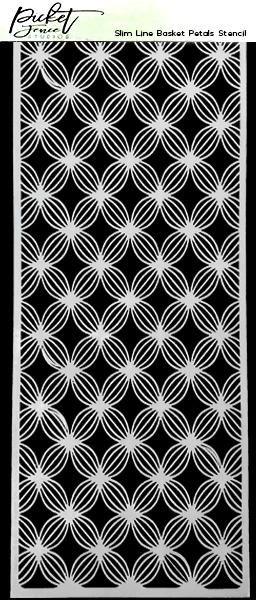 PF Stencil Basket Petals 4x10 Slim LIne