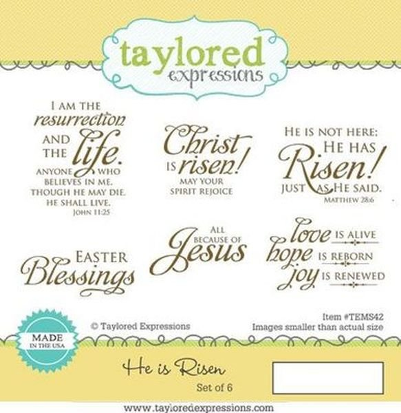 He is Risen sentiment stamp set