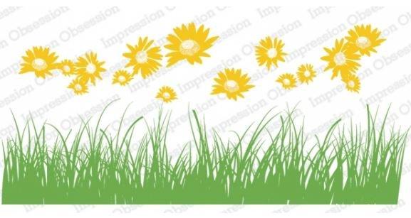 IO Slim Line Stamp Meadow Floral Set