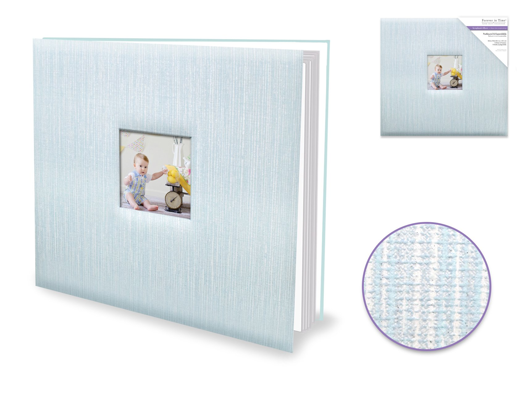 Forever In Time  - Postbound Album 12x12 - Blue Embossed Glossy