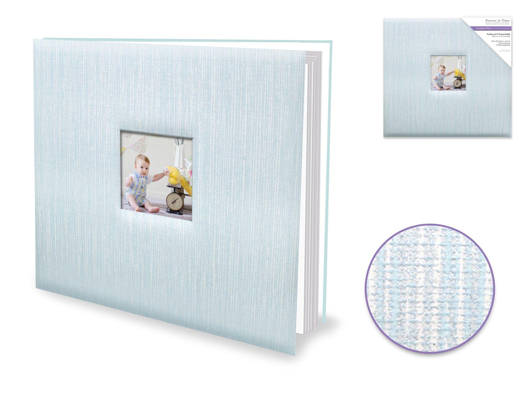 Blue Shimmer Postbound Album 12x12
