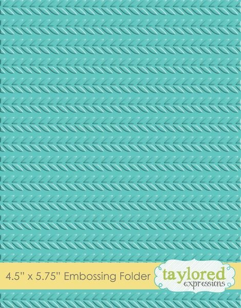 Taylored Expressions Embossing Folder Cable Knit