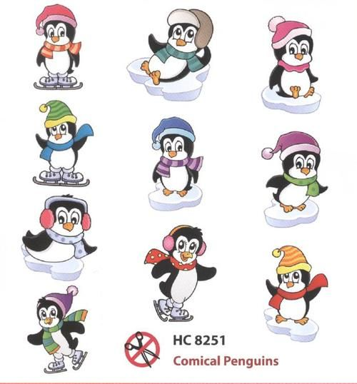 Hearty Crafts Easy 3D Toppers - Comical Penguins