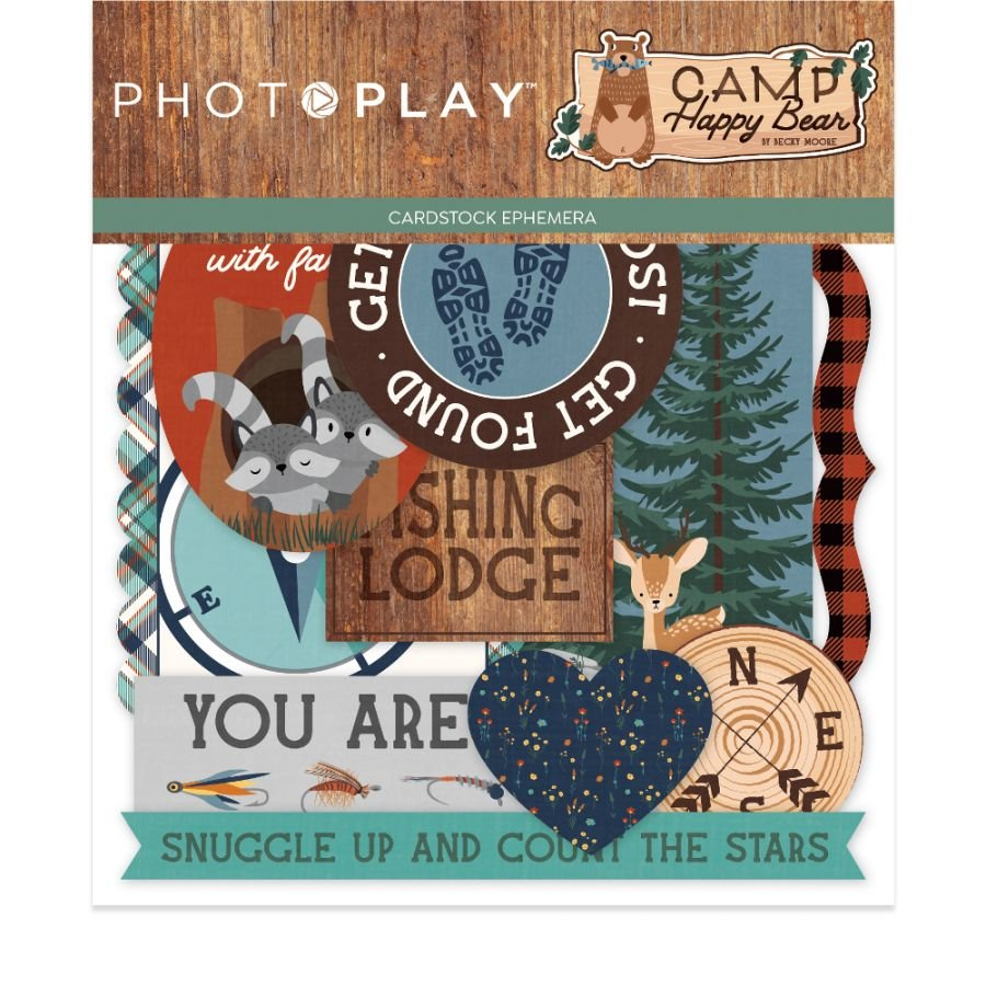 Camp Happy Bear Ephemera Cardstock Die-Cuts-