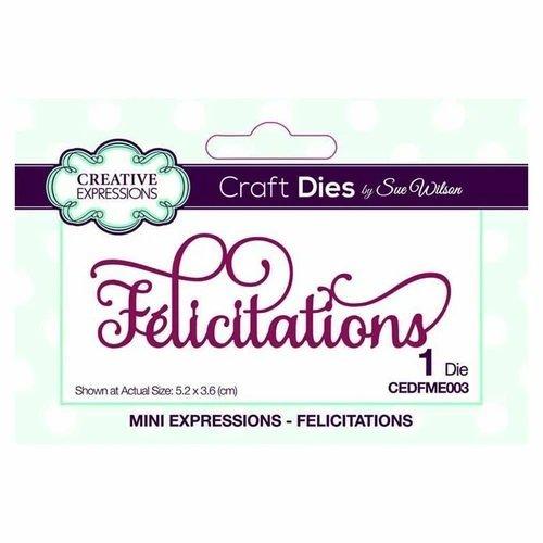 CREX Mini die - Felicitations