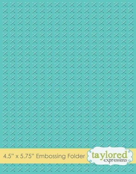 Embossing Folder Cross Stitch