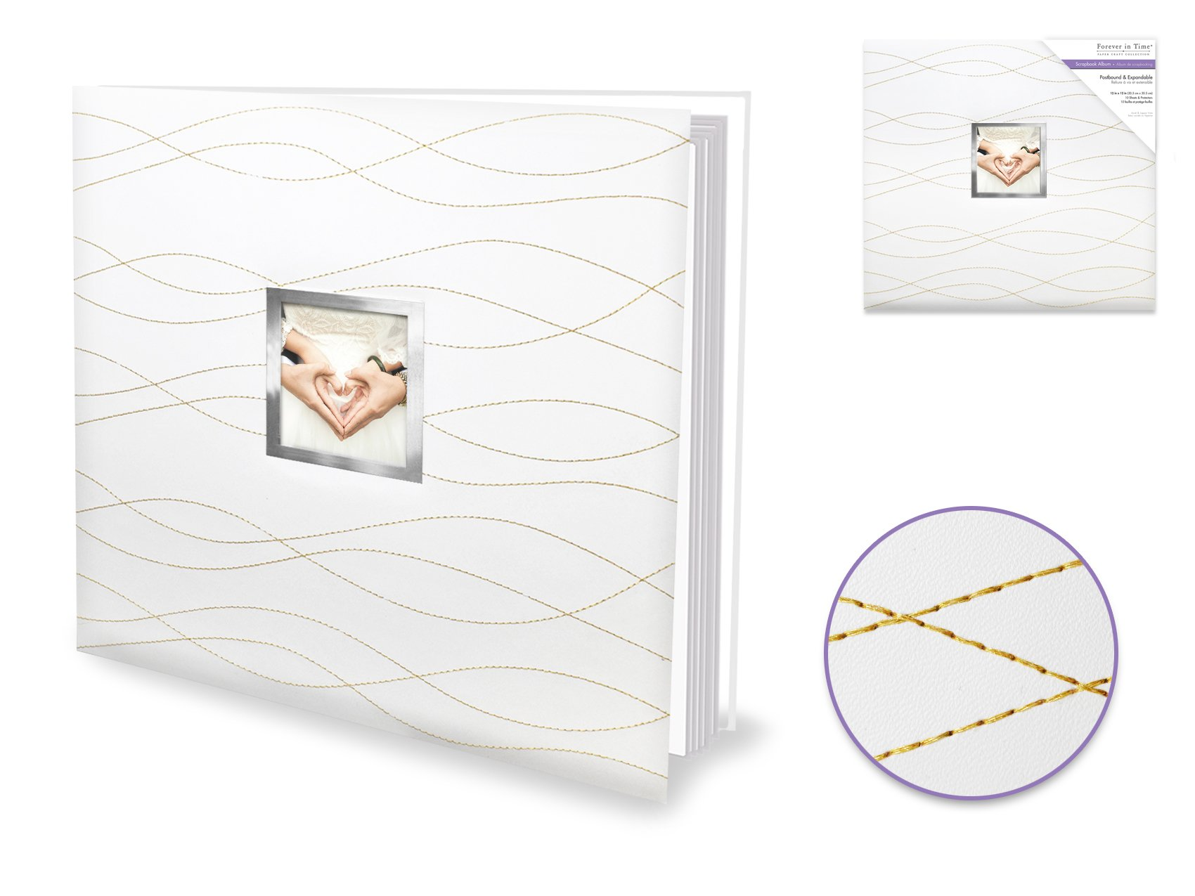 Gold Stitched Postbound Album 12x12
