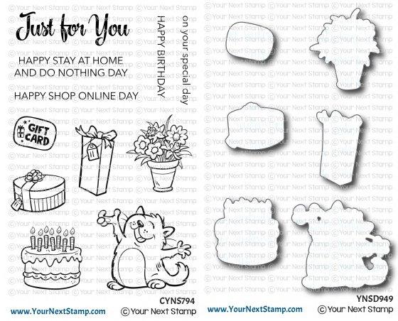 YNS Happy Cat Stamp Die Set