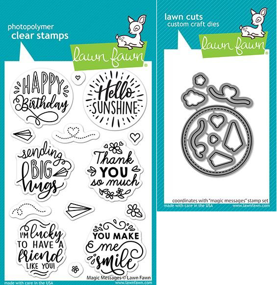 Lawn Fawn Stamp & Die Set - Magic Messages