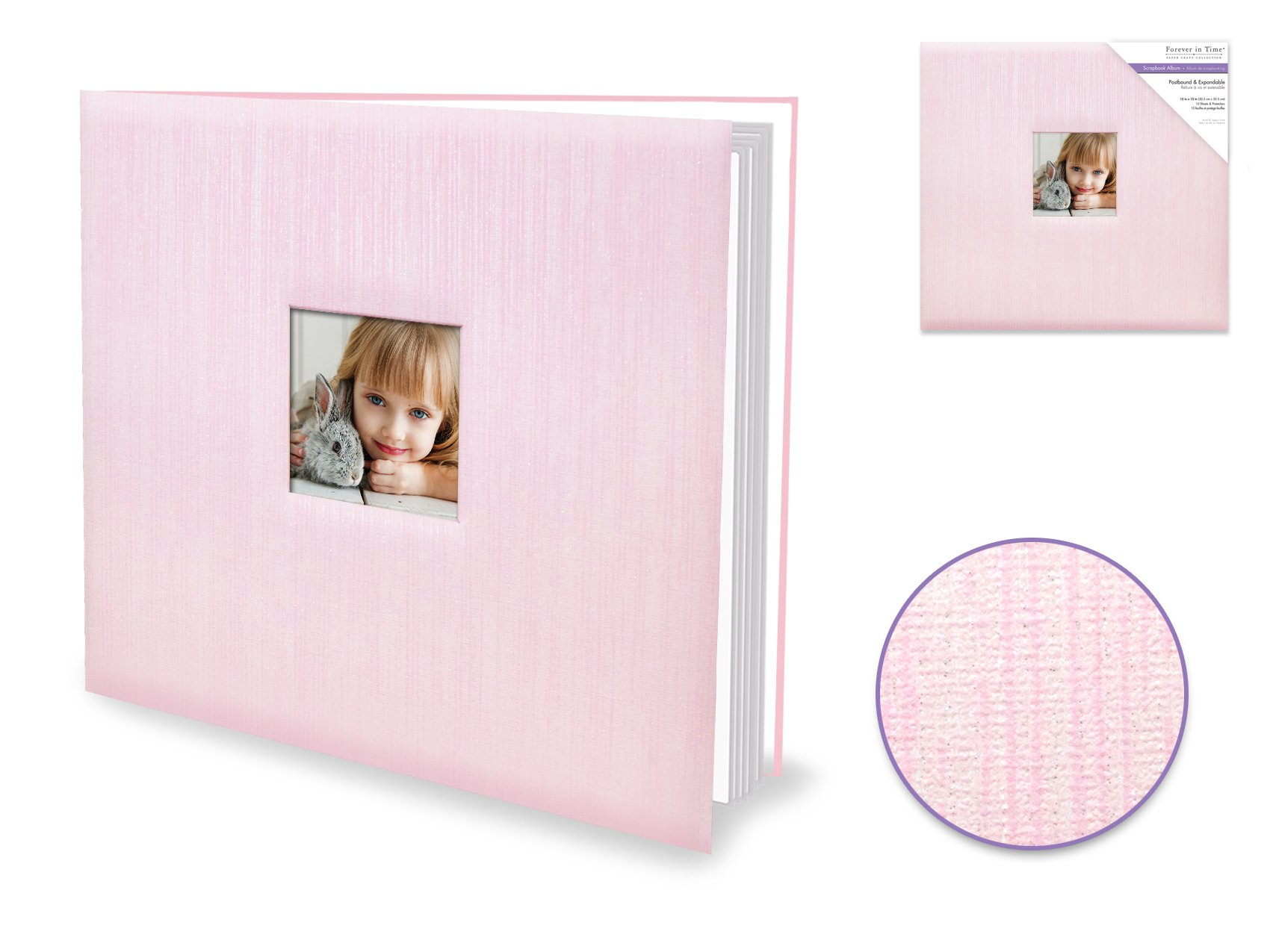 Forever in Time - Postbound Album 12x12 - Pink Shimmer