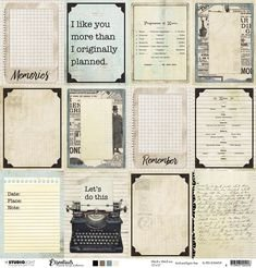STLGT Essentials Planner Scrap 3x4 Journaling Cards