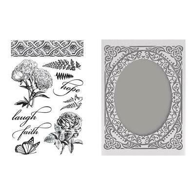 Butterflies & Roses Stamp Embossing Folder Set
