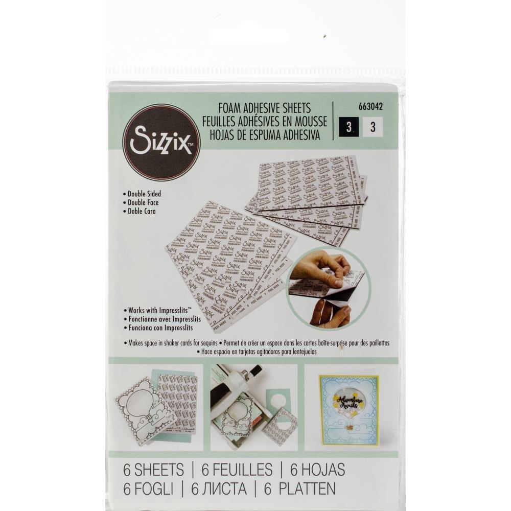Sizzix 4x6 Foam Adhesive Sheets