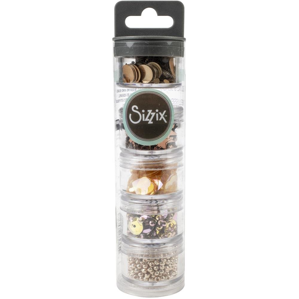 Sizzix Essential Sequins & Beads - Rose Gold