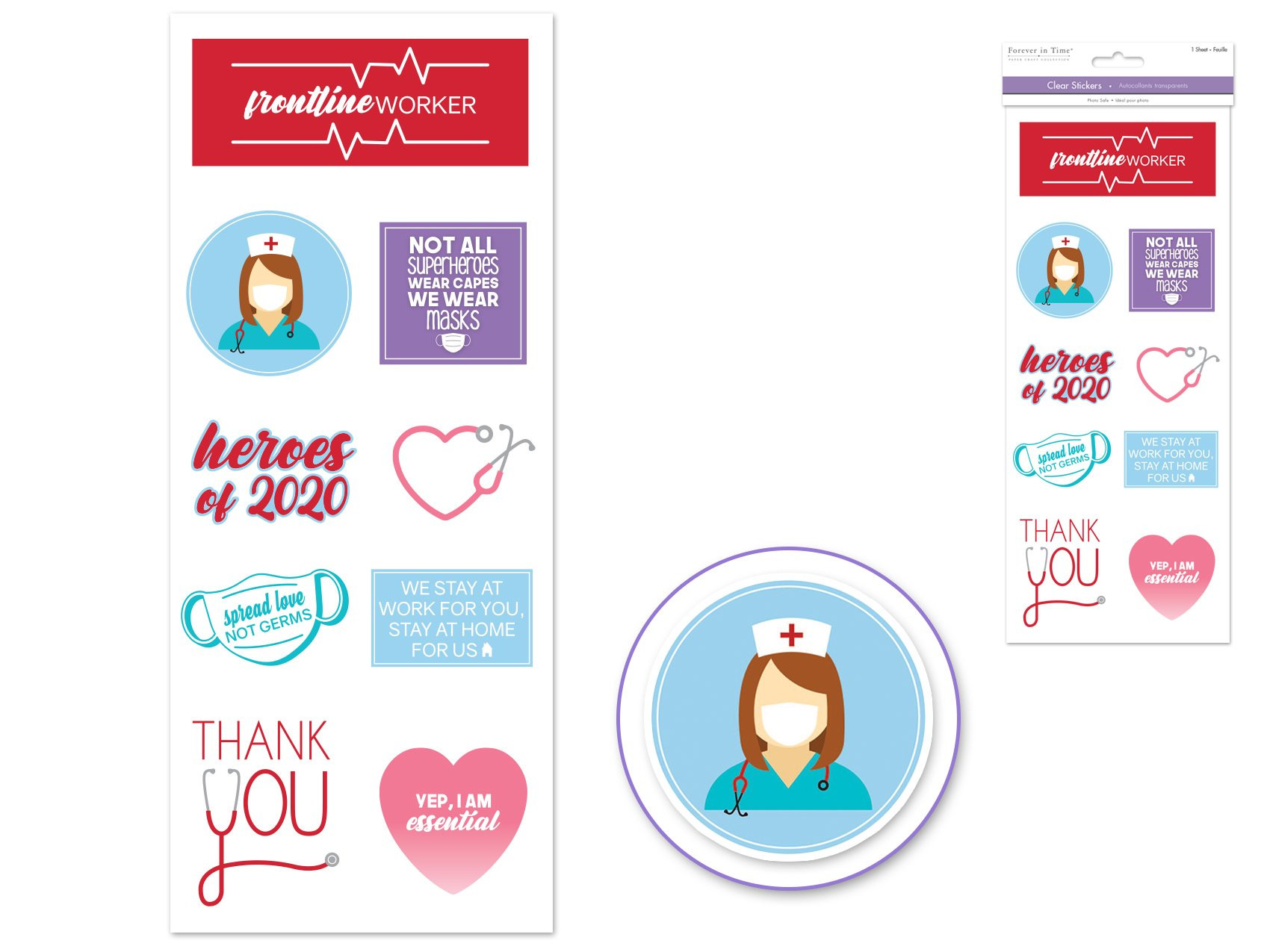 Forever in Time Healthcare Workers Stickers