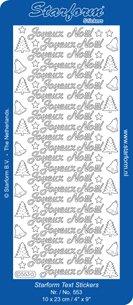 Peel Off Stickers - Joyeux Noel - Silver