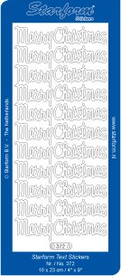 Peel Off Stickers - Large Merry Christmas - Gold