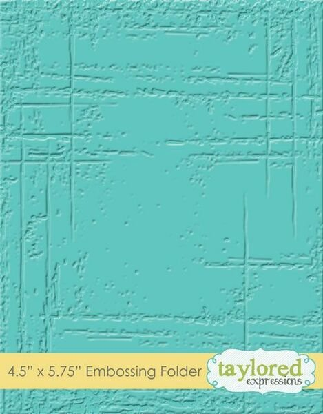 Taylored Expressions Embossing Folder Weathered