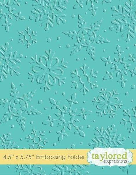 Embossing Folder Winter Flurry