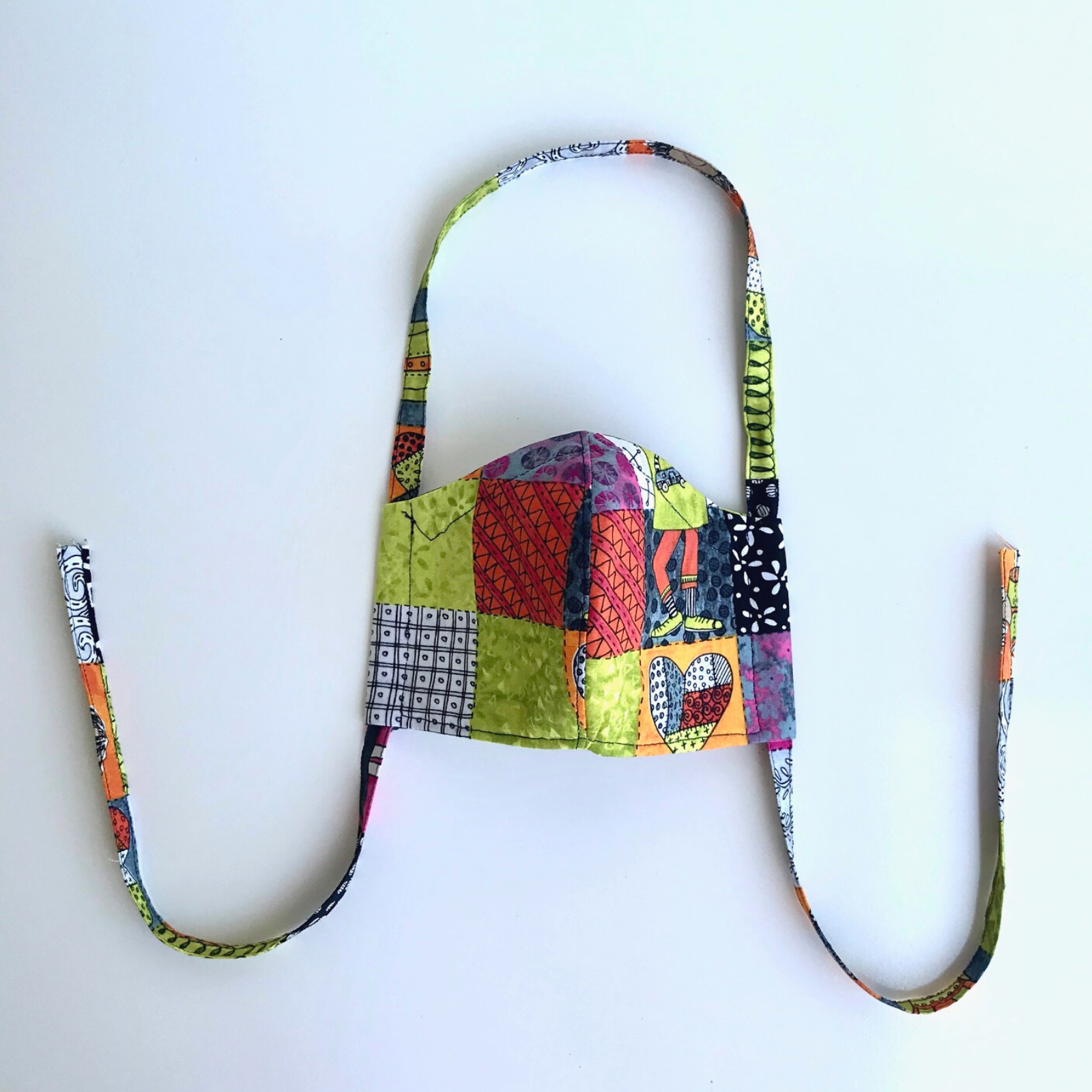 Fitted Face Mask - Girl Multi