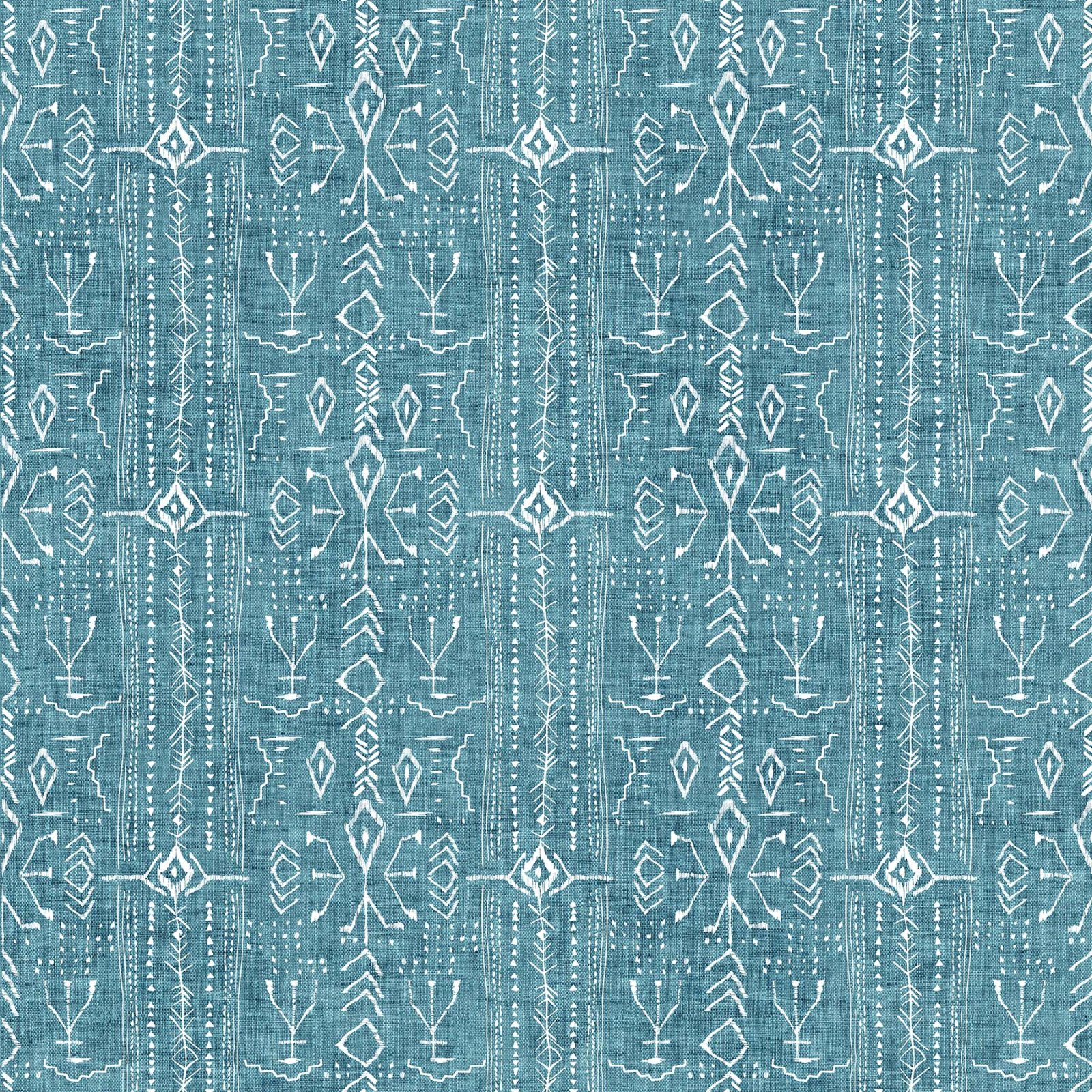 FOREST FABLE TEAL stripe